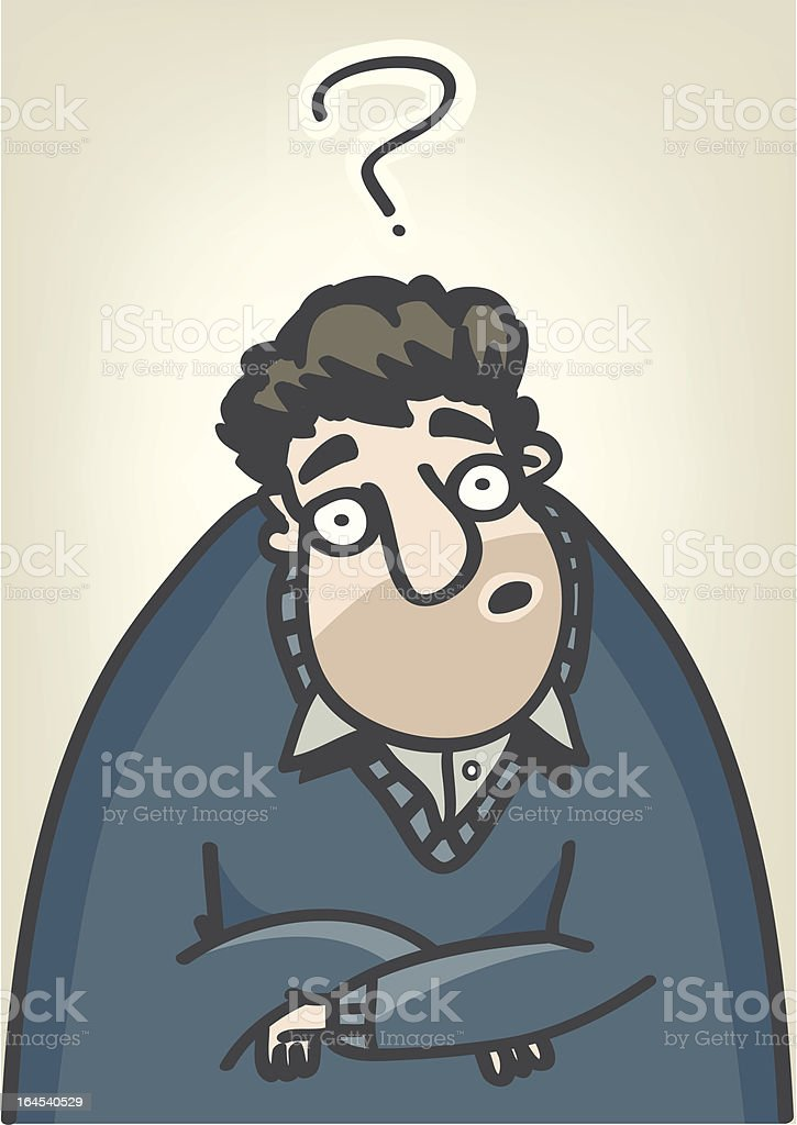 Very confused man royalty-free stock vector art