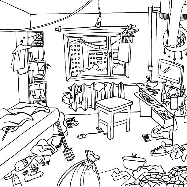 messy closet coloring pages - photo#13