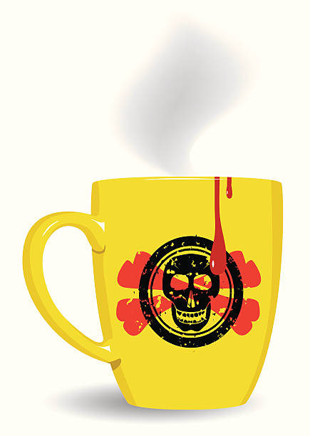 bildbanksillustrationer, clip art samt tecknat material och ikoner med very mystery a drink. - coffe with death