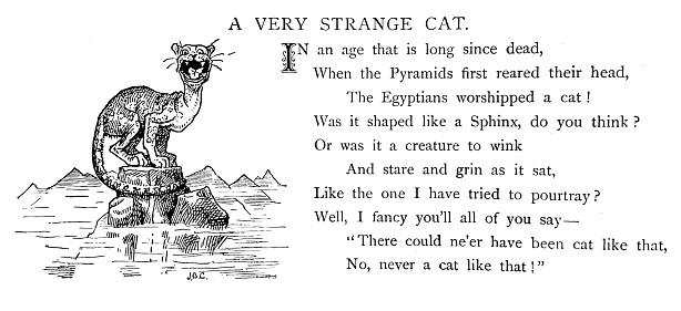 A very strange cat on the pyramids
