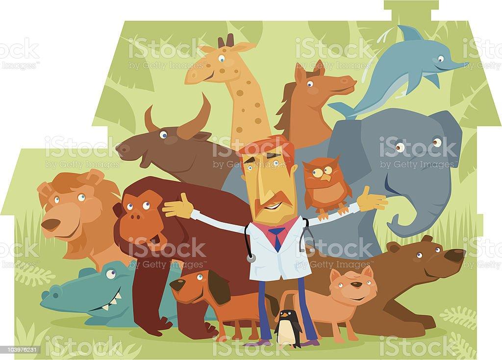 veterinarian welcoming royalty-free stock vector art