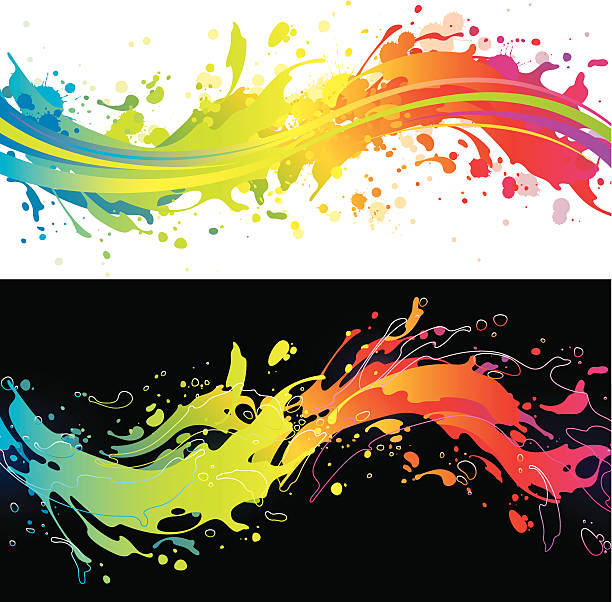 vibrant rainbow splash backgrounds - graffiti backgrounds stock illustrations, clip art, cartoons, & icons