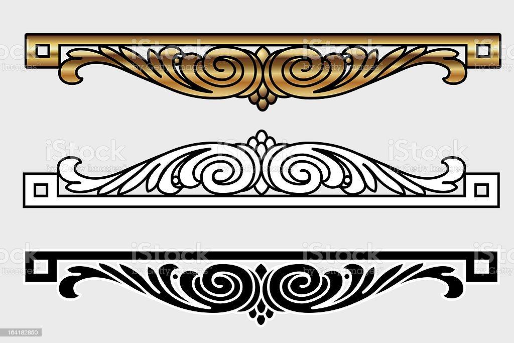 Vicrtorian Style Design royalty-free stock vector art