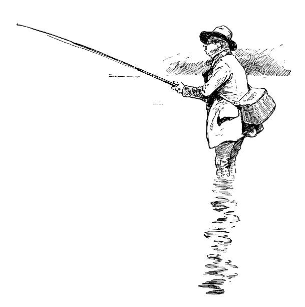 ビクトリアの釣り人 - 漁師点のイラスト素材/クリップアート素材/マンガ素材/アイコン素材
