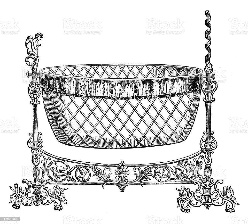 083a9e13f541 Victorian Baby Bed Antique Design Illustrations Stock Vector Art ...