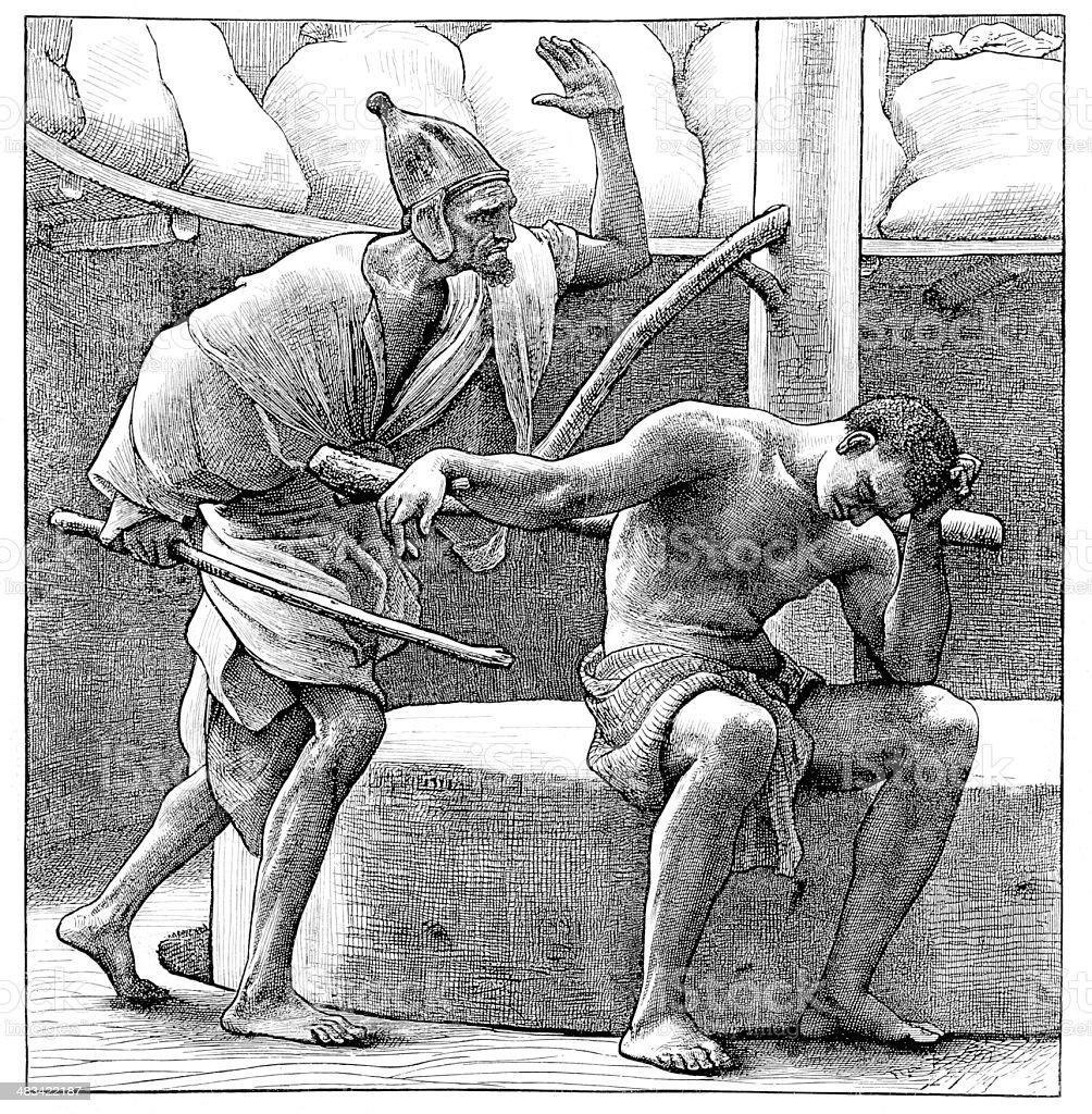Ilustración de Victorian Biblia Ilustración Samson En El Cribador ...