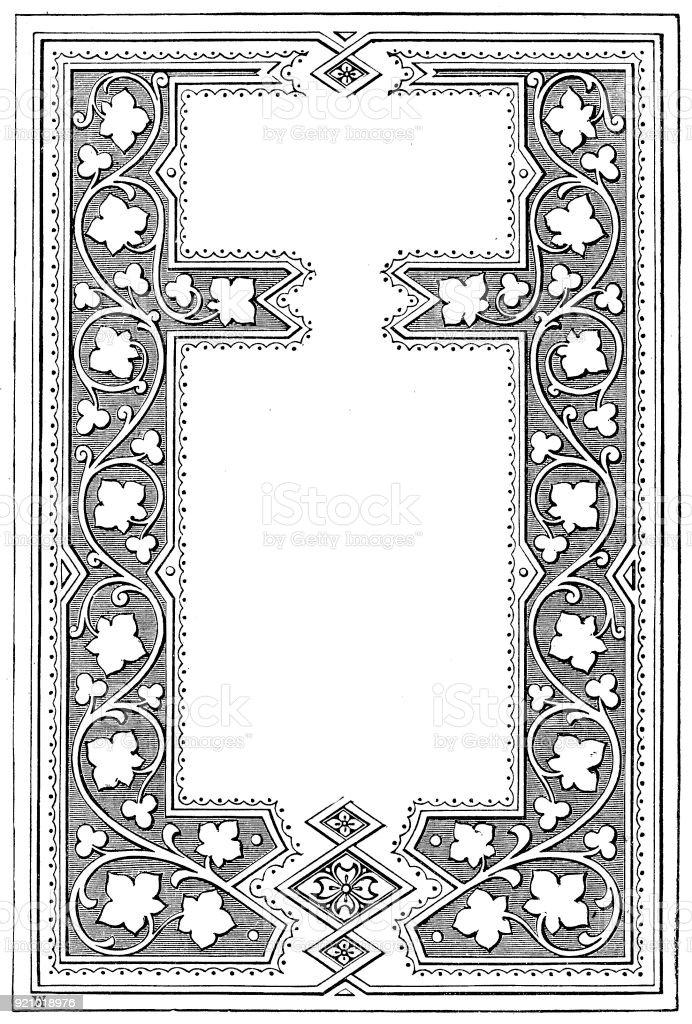 Viktorianische Schwarz Weiß Beleuchteten Rahmen Seitenvorlage Feb 22 ...