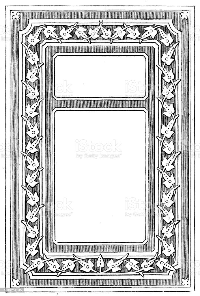 Victorian Black And White Illuminated Page Frame Style Feb 24 With ...