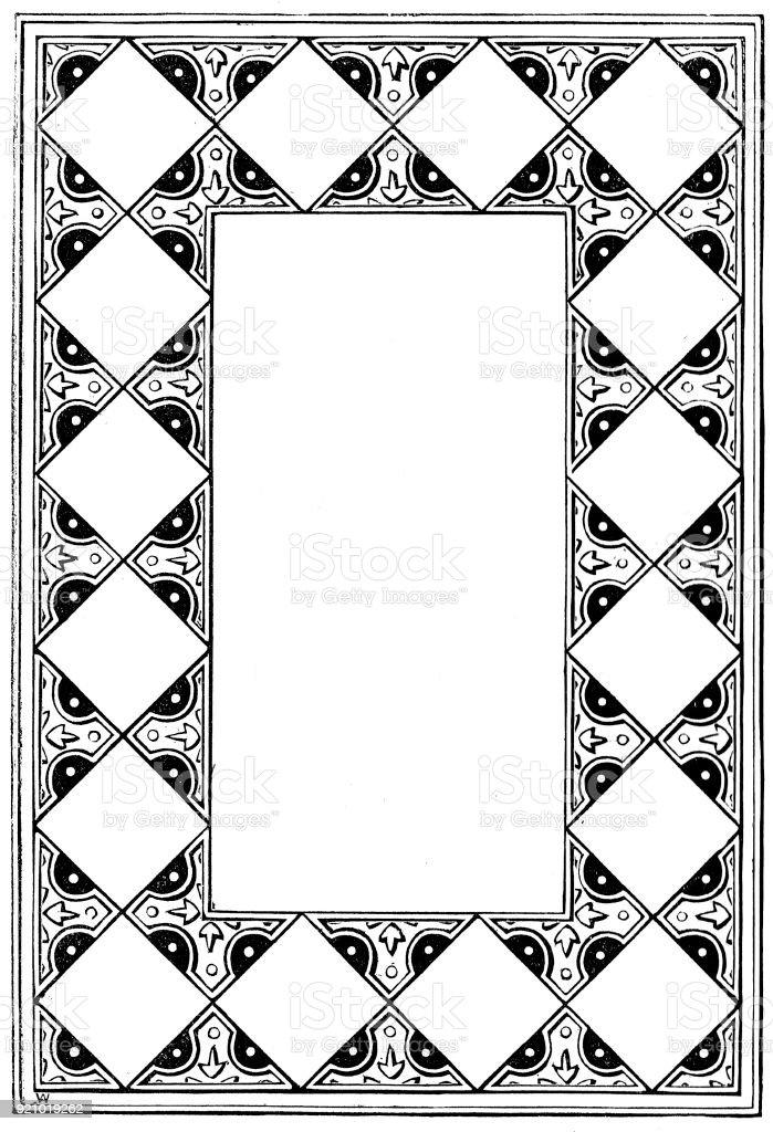Viktorianische Schwarz Weiß Beleuchteten Rahmen Seitenvorlage Feb ...