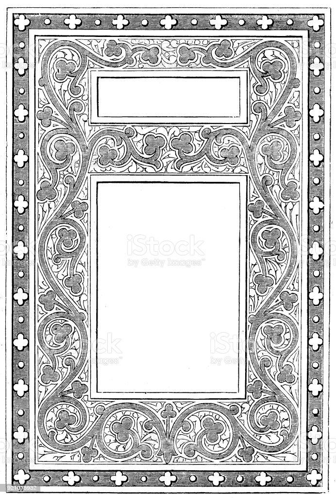 Viktorianische Schwarz Weiß Beleuchteten Rahmen Seitenvorlage Feb 32 ...