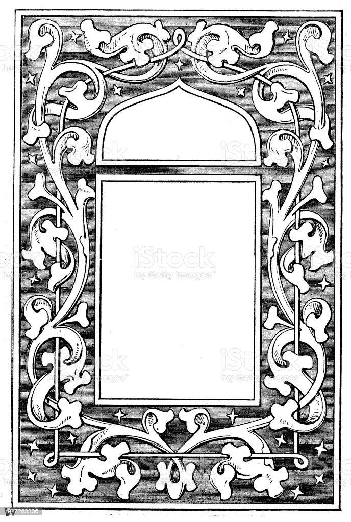 Viktorianische Schwarz Weiß Beleuchteten Rahmen Seitenvorlage Jan 11 ...
