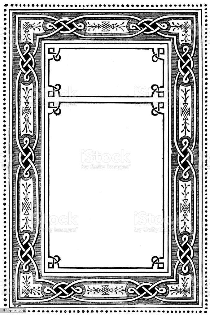 Ilustración de Victoriano Blanco Y Negro Iluminado Estilo De Marco ...