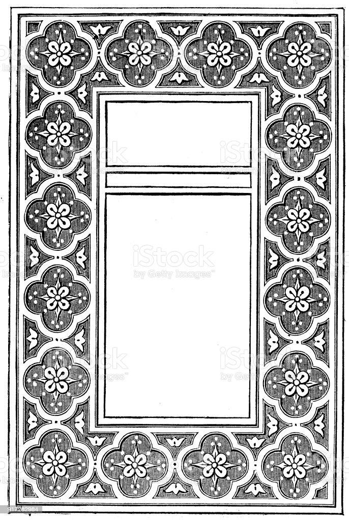 Viktorianische Schwarz Weiß Beleuchteten Rahmen Seitenvorlage Jan 4 ...
