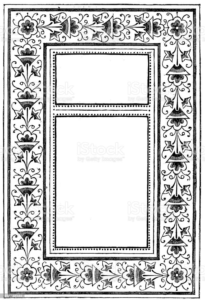 Viktorianische Schwarz Weiß Beleuchteten Rahmen Seitenvorlage 6 Jan ...