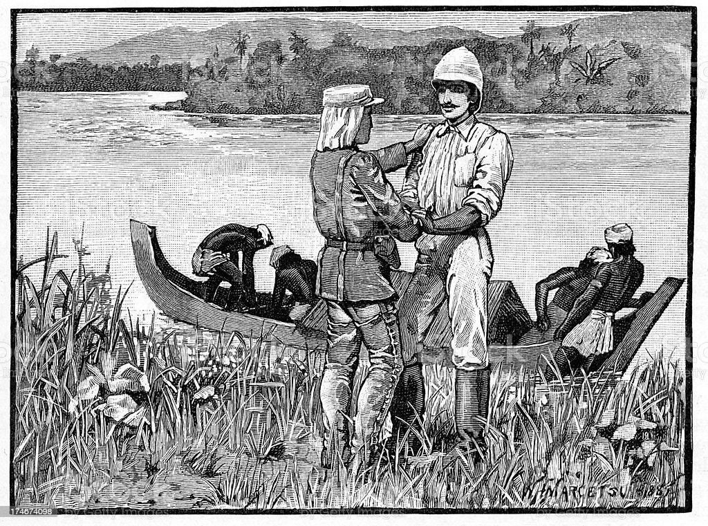 Victorian British Explorer royalty-free stock vector art