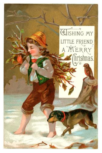 Victorian Christmas card, 1877