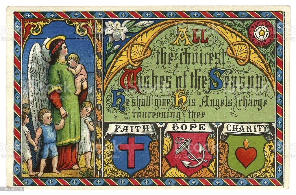 Victorian Christmas seasonal wishes greetings card, 1872 royalty-free victorian christmas seasonal wishes greetings card 1872 stock vector art & more images of 1870-1879