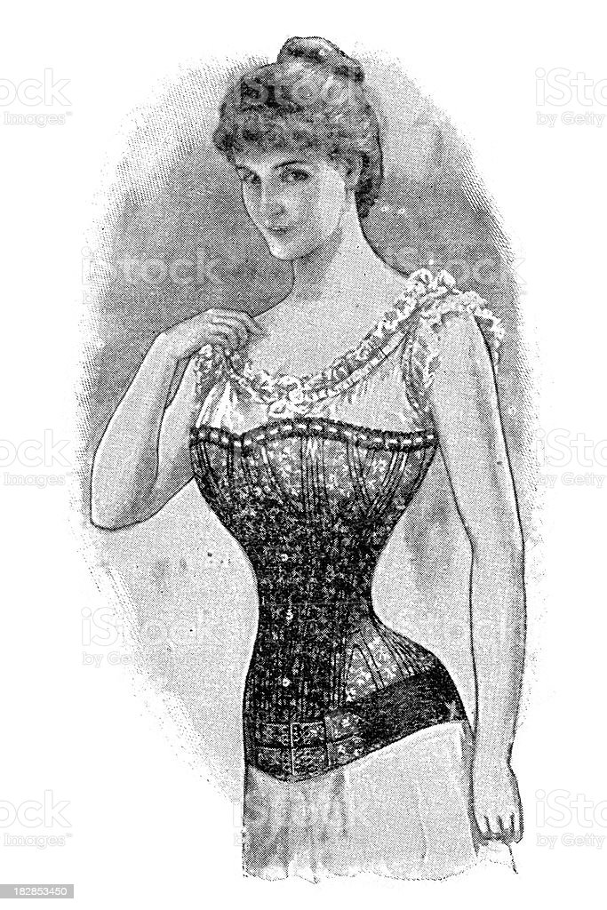 Victorian Corset royalty-free stock vector art