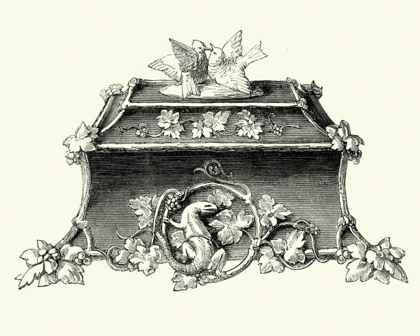 Antique Jewelry Box Illustrations, Royalty-Free Vector ...