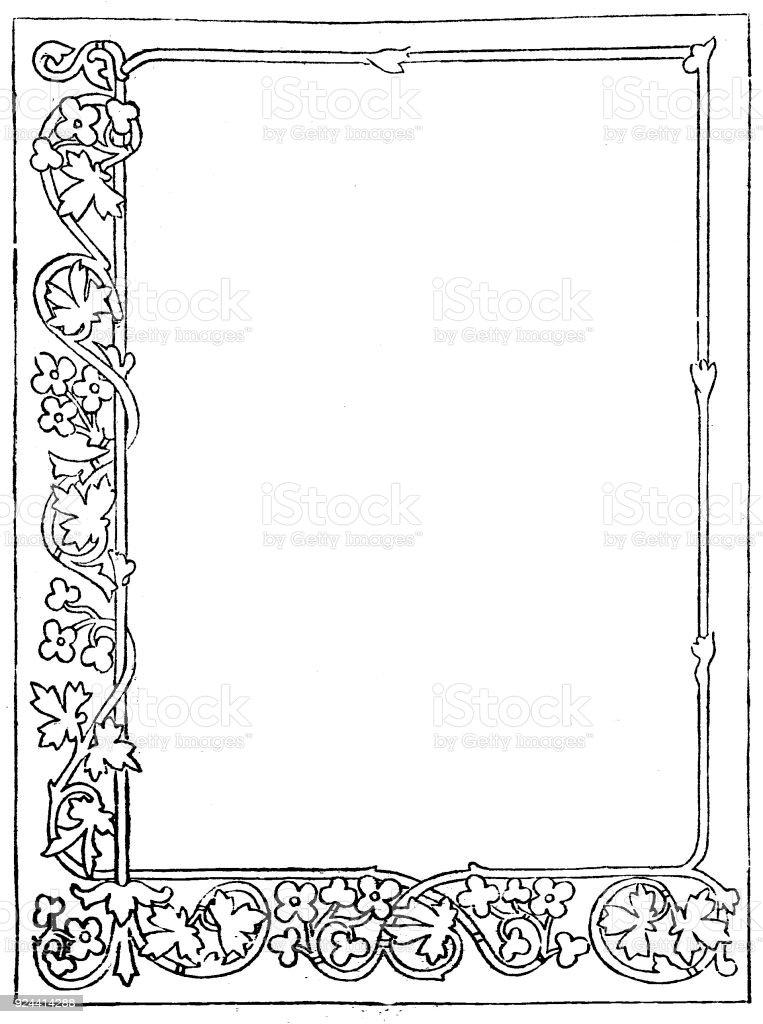 Viktorianische Dekorative Rahmen Für Eine Seite Leeres Textfeld Im ...