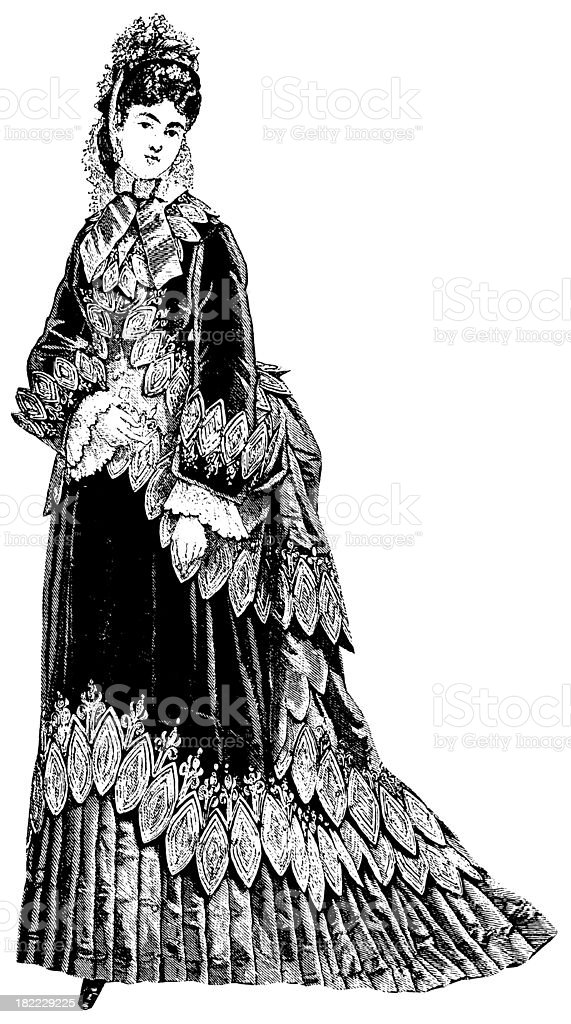 Victorian dress | Antique Design Illustrations royalty-free stock vector art