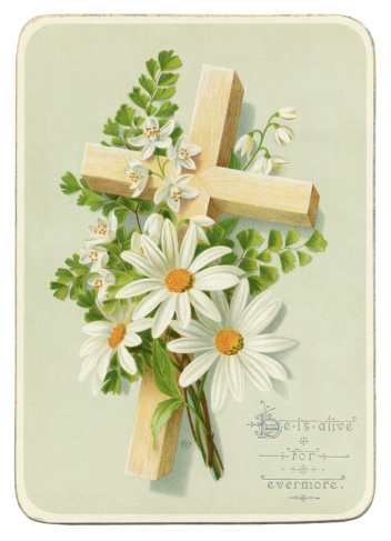 Victorian Easter card, 1885