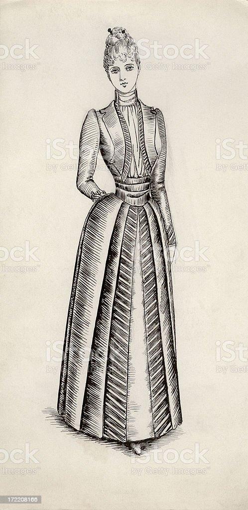 Victorian / Edwardian costume design royalty-free victorian edwardian costume design stock vector art & more images of 1890-1899
