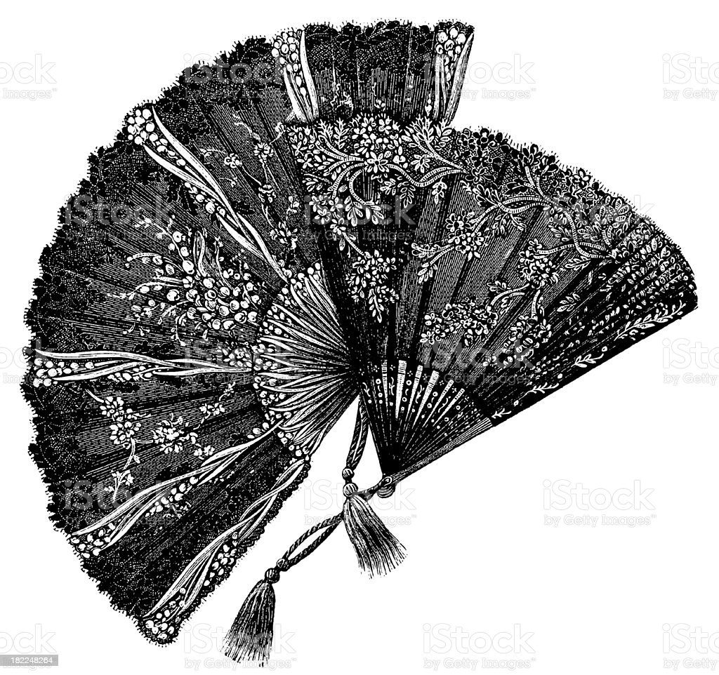 Victorian fan | Antique Design Illustrations royalty-free stock vector art