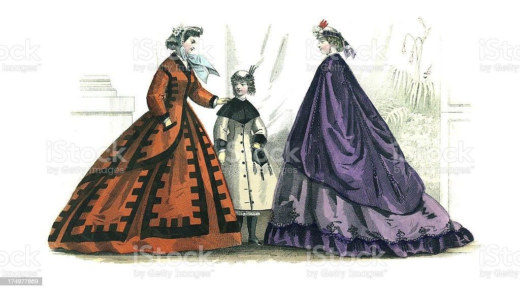 Victorian Fashion royalty-free stock vector art