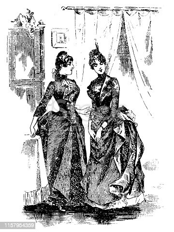 Illustration of a Victorian Fashion woman