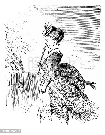 Illustration of a Victorian Fashion woman