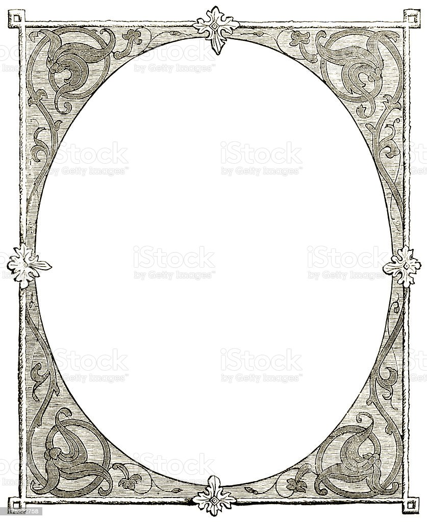 Victorian frame in sepia royalty-free stock vector art