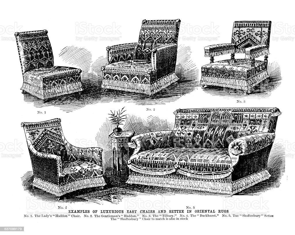 Muebles De Estilo Victoriano Illustracion Libre de Derechos ...
