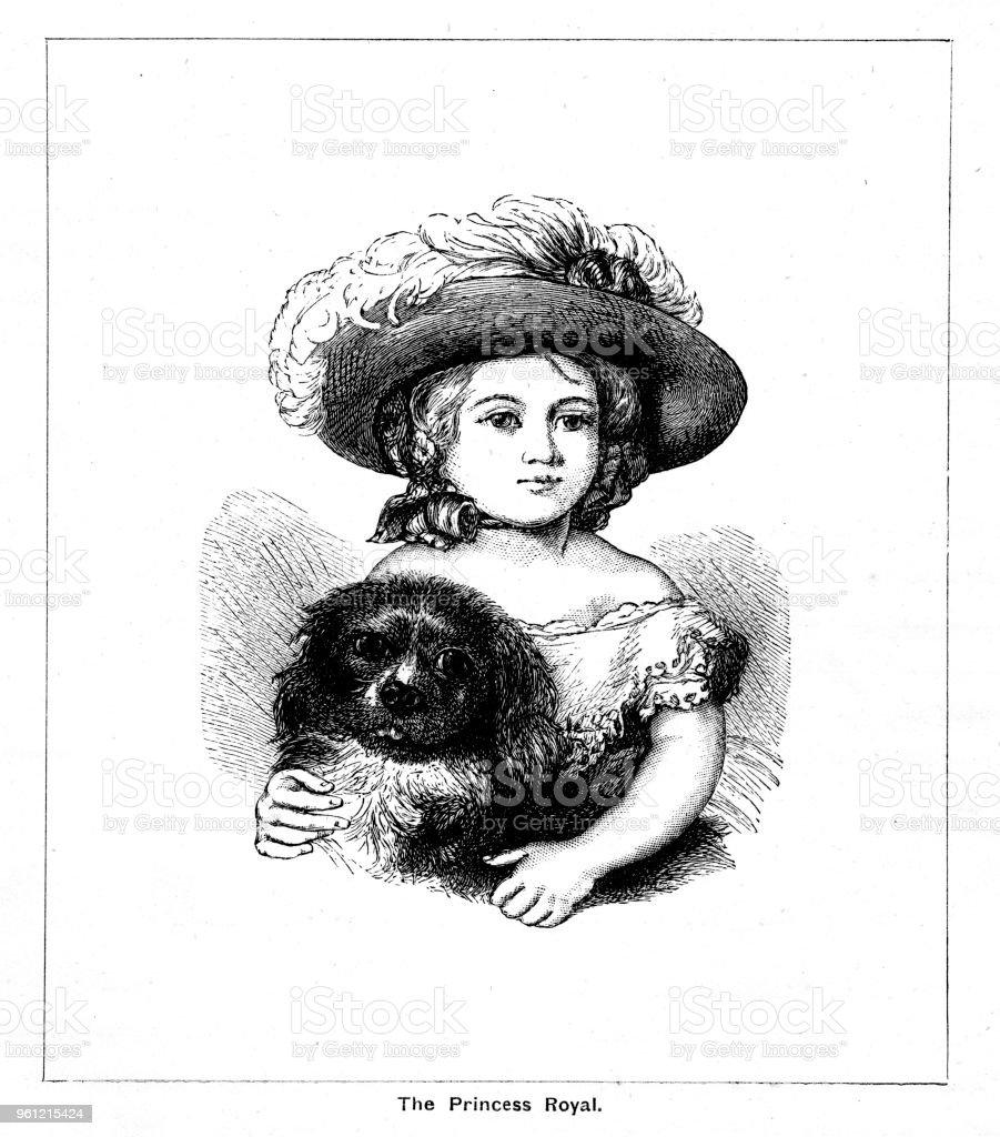 Viktorianische Kopf Und Schultern Porträt Der Prinzessin Victoria ...