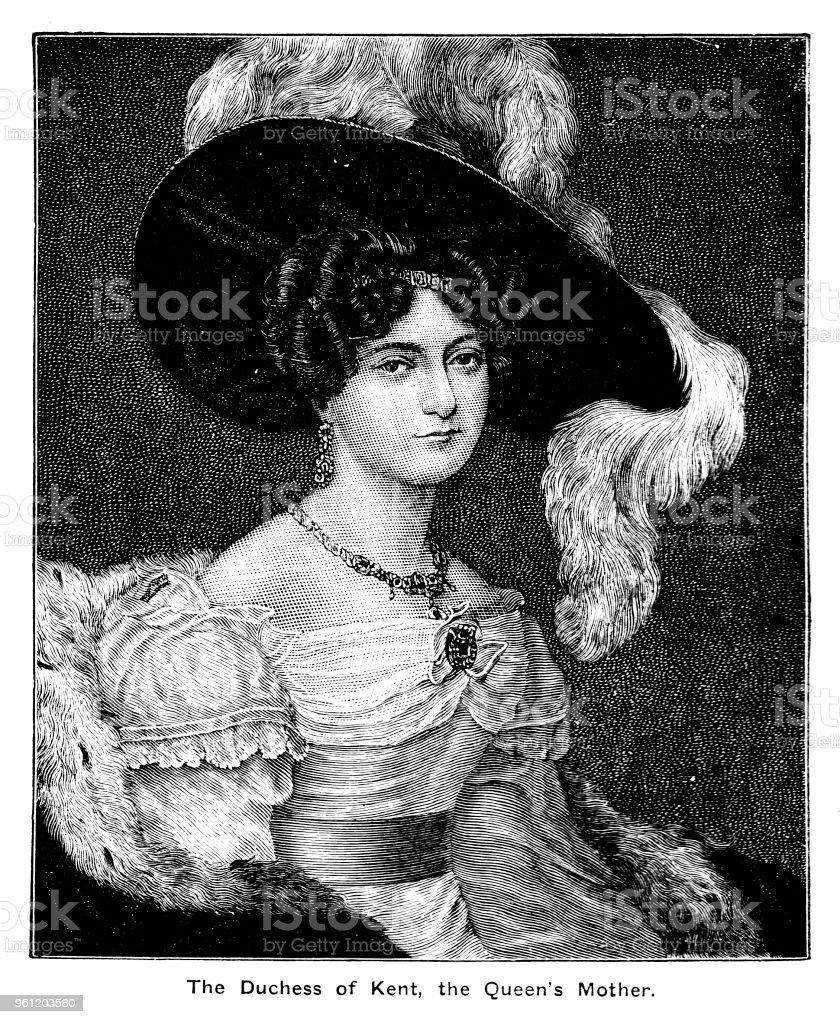 Viktorianische Kopf Und Schultern Porträt Der Herzogin Von Kent Die ...