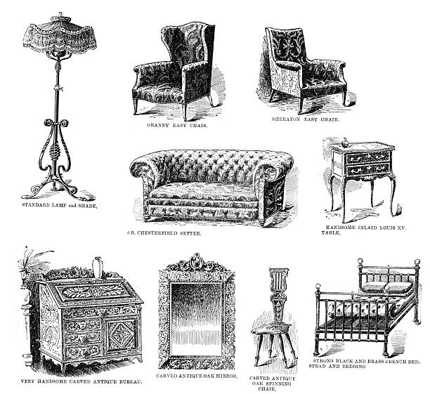 Top 60 Chesterfield Sofa Clip Art Vector Graphics And Illustrations