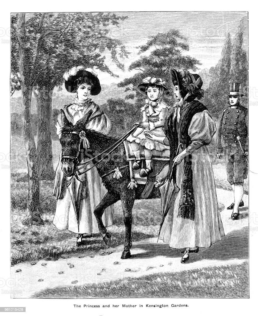 Viktorianische Darstellung Der Eine Junge Prinzessin Victoria Auf ...