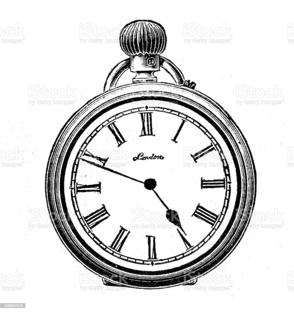 victorian ladies pocket watch stock vector art amp more
