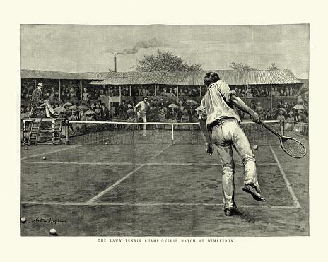Victorian Lawn Tennis match, 1888 Wimbledon Championships