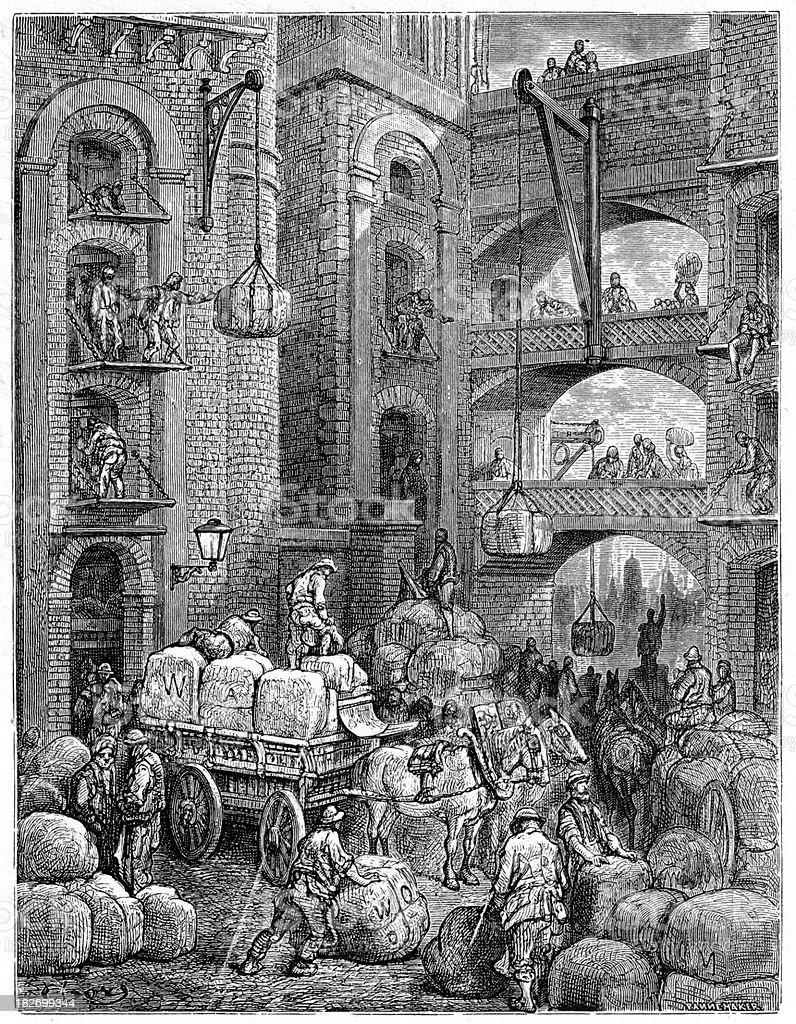Victorian London - Pickle Herring Street royalty-free stock vector art