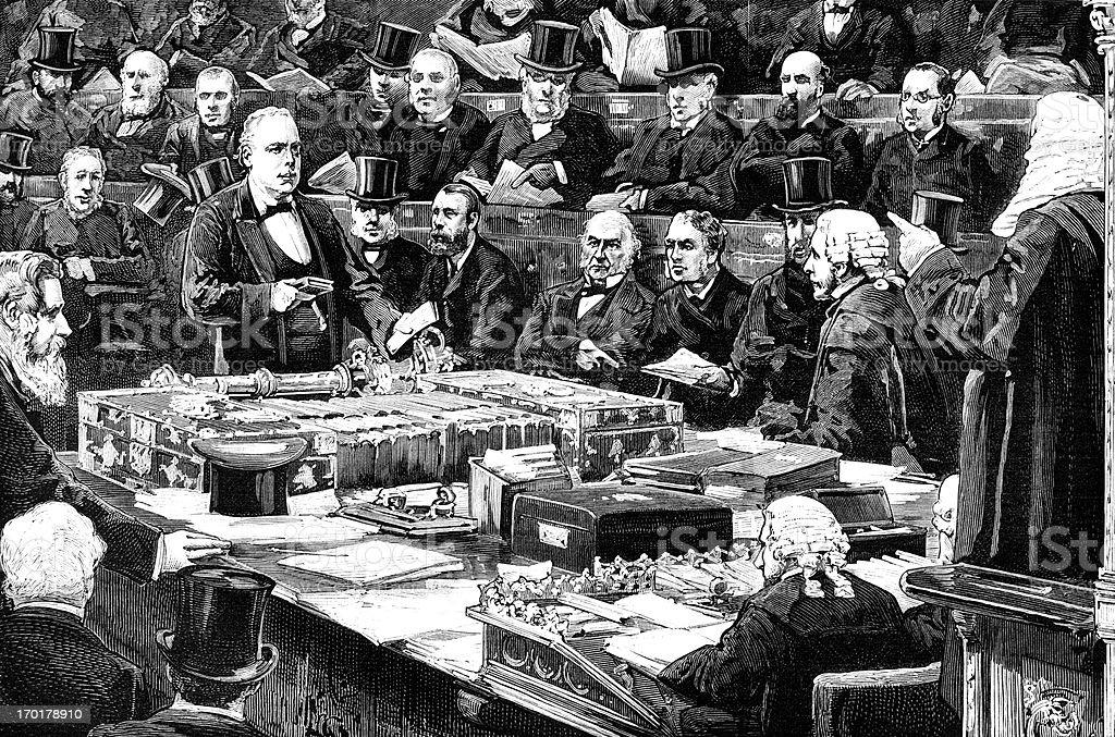ビクトリア MP て、宣誓の下院会議場 ベクターアートイラスト