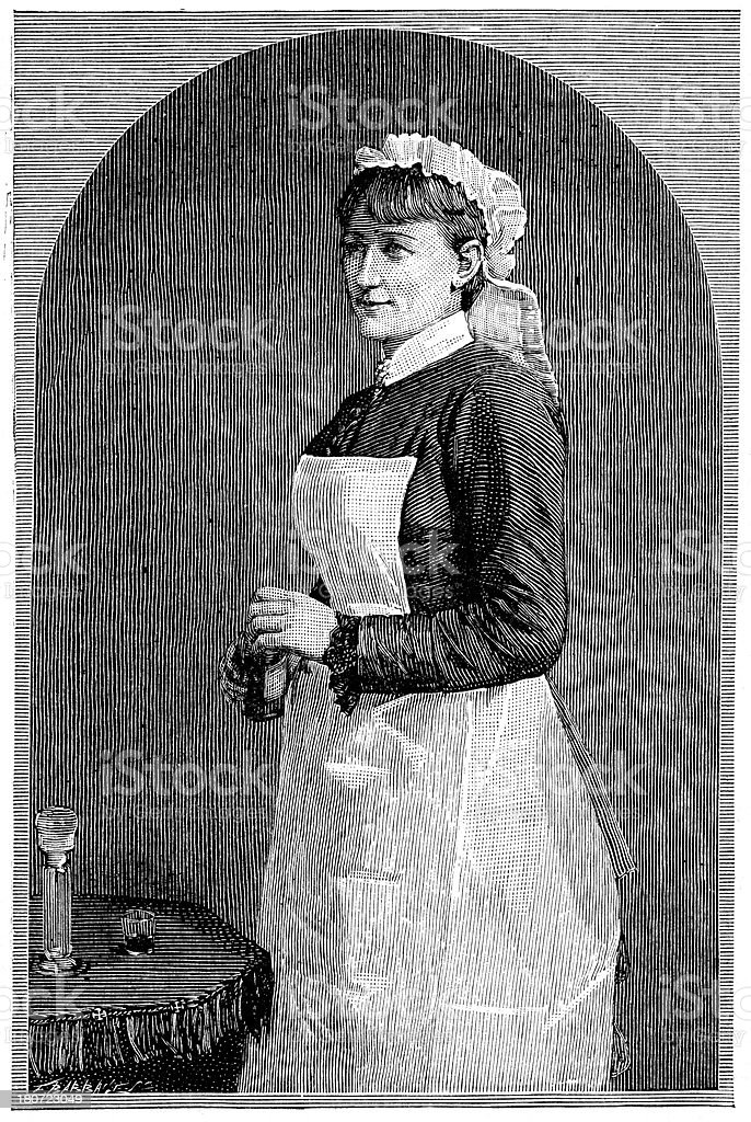Victorian Nurse royalty-free victorian nurse stock vector art & more images of 19th century