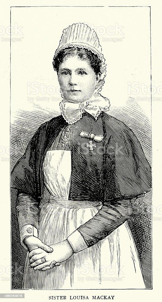 5b293dd276d Victorian Nurse Louisa Mackay Recipient Of The Royal Red Cross Stock ...