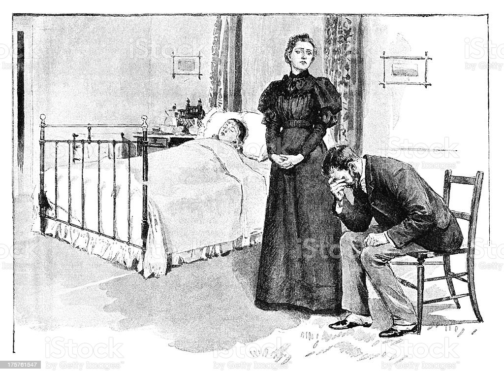 Victorian parents mourning the death of their child royalty-free victorian parents mourning the death of their child stock vector art & more images of 1890-1899