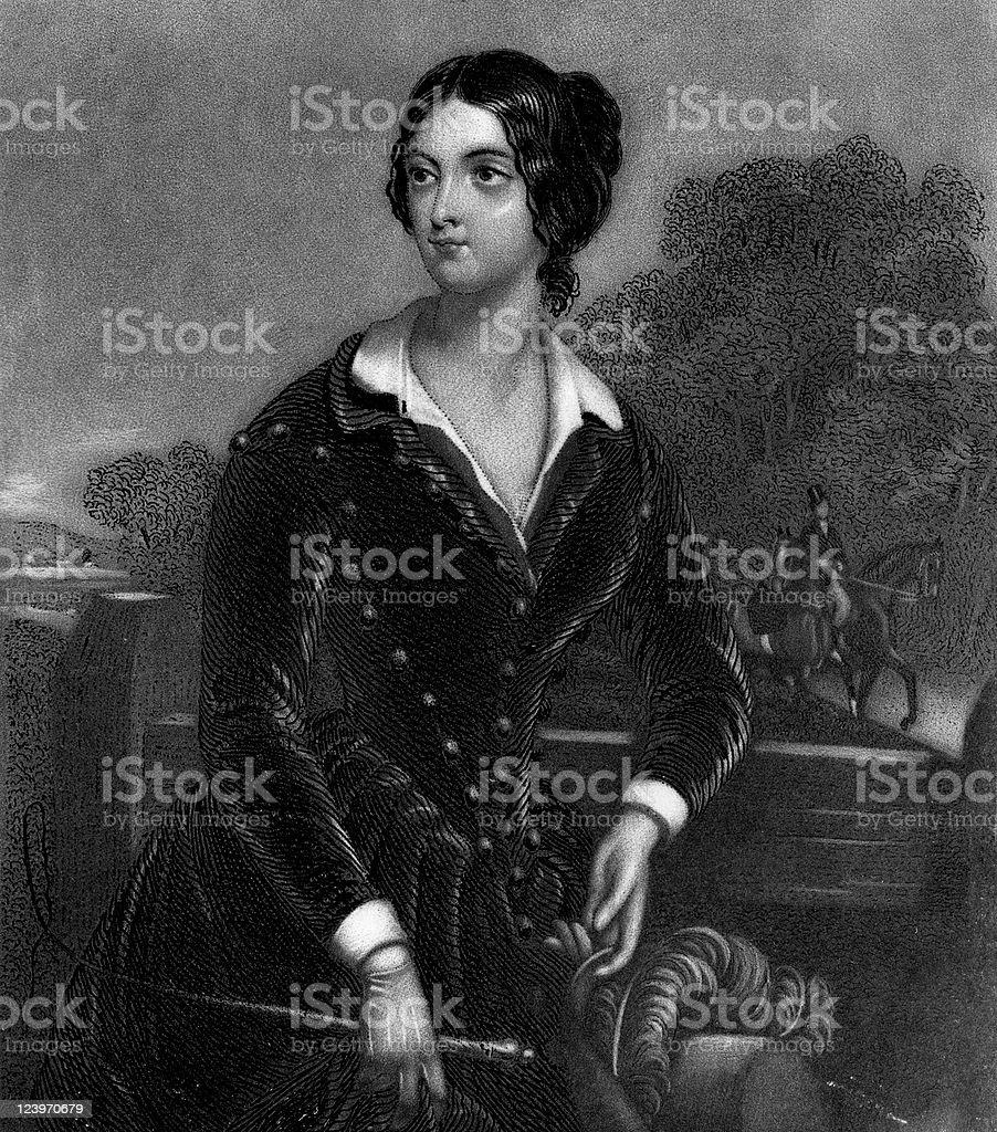 Victorian Portrait of Frances Elizabeth Caroline Willard, American Suffragist royalty-free stock vector art