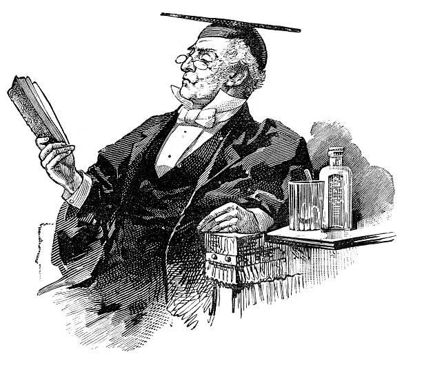 illustrations, cliparts, dessins animés et icônes de victorian le professeur - professeur d'université