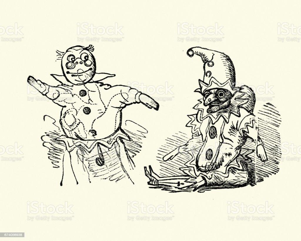Arte bambole di di riserva vittoriane punzone delle Judy di vettore e e più del Ac435RLqjS