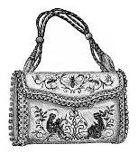 Victorian purse engraving
