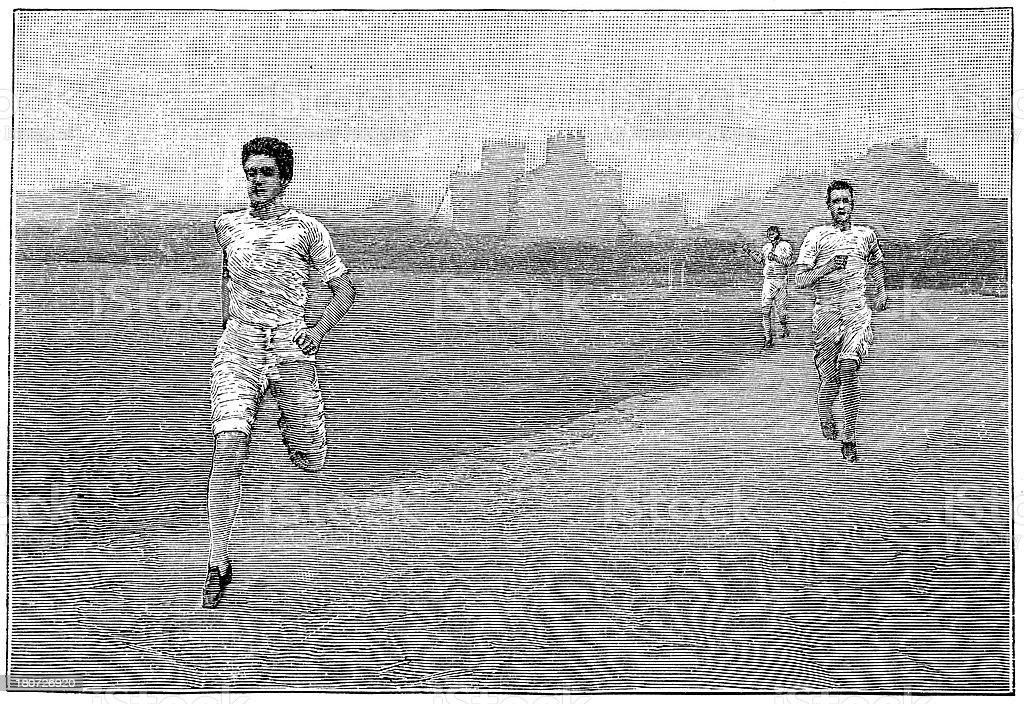 Victorian Sport - Quarter mile race royalty-free stock vector art