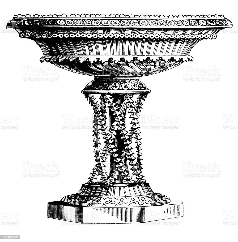 Victorian Table I Antique Design Illustrations royalty-free stock vector art